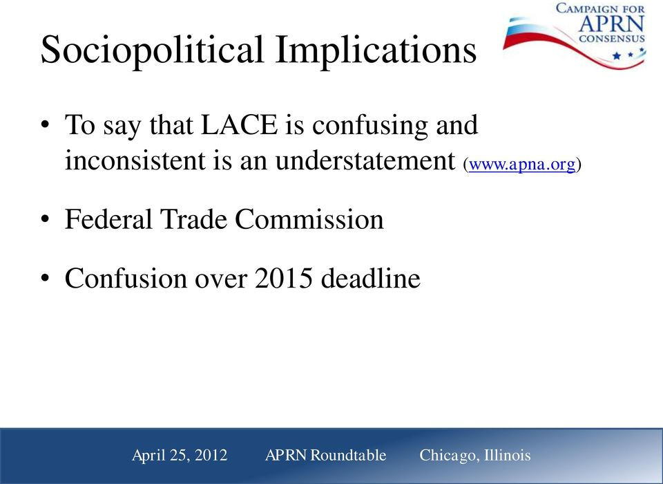apna.org) Federal Trade Commission Confusion over 2015