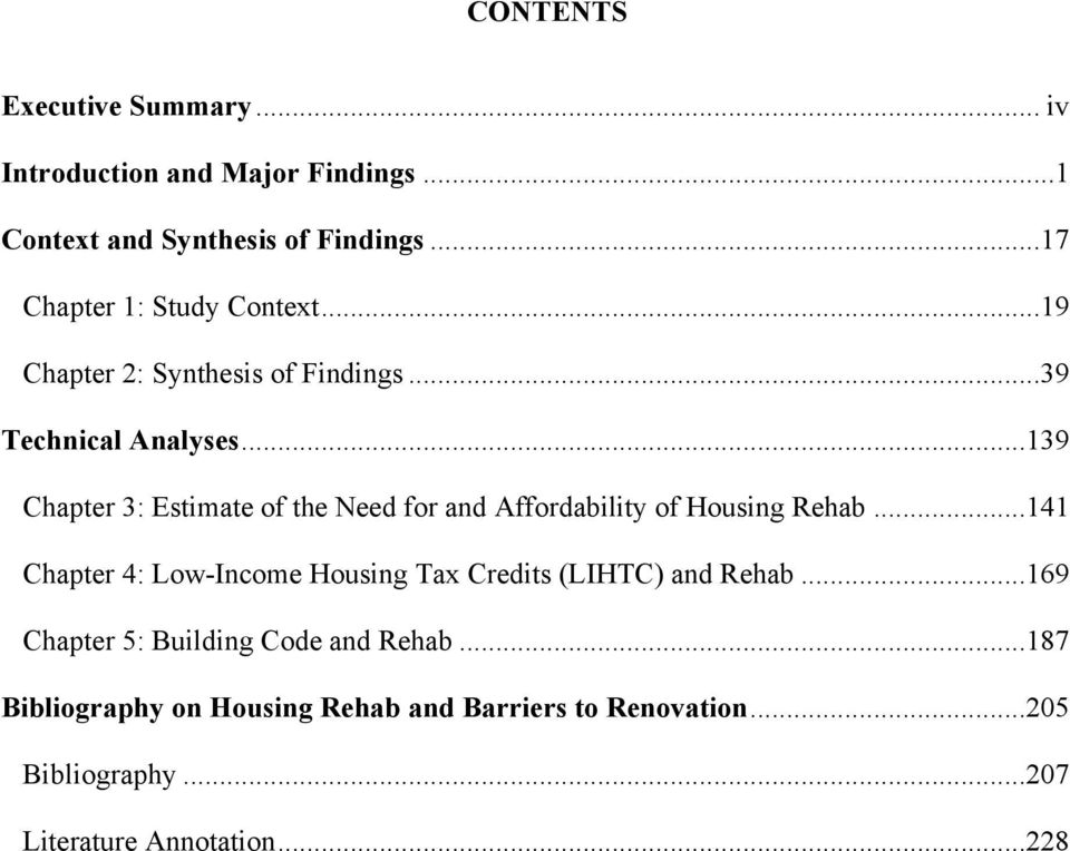 ..139 Chapter 3: Estimate of the Need for and Affordability of Housing Rehab.