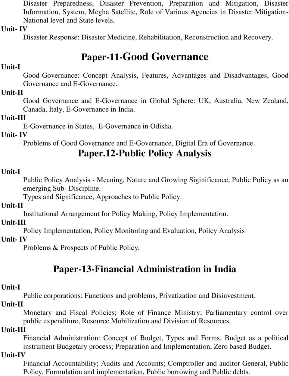 Paper-11-Good Governance Good-Governance: Concept Analysis, Features, Advantages and Disadvantages, Good Governance and E-Governance.