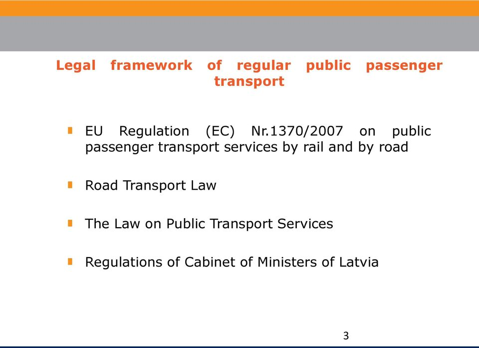 1370/2007 on public passenger transport services by rail and