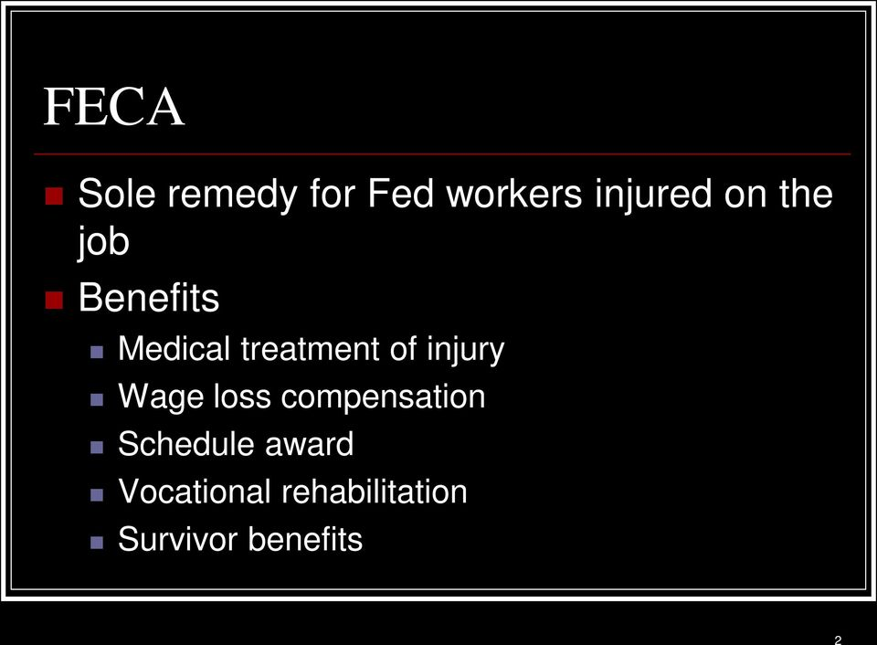 injury Wage loss compensation Schedule