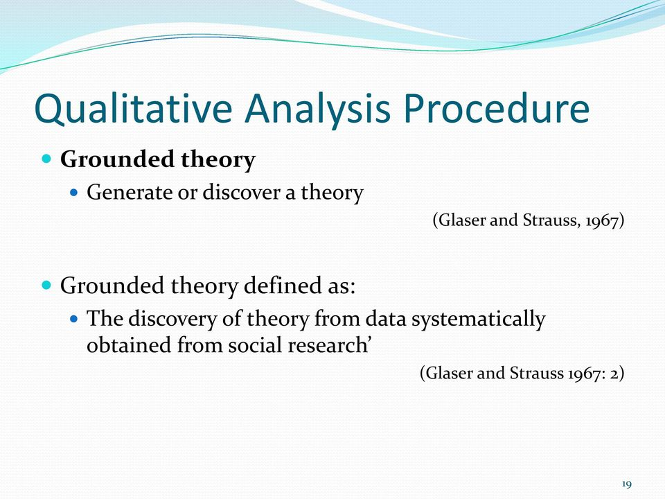 defined as: The discovery of theory from data systematically