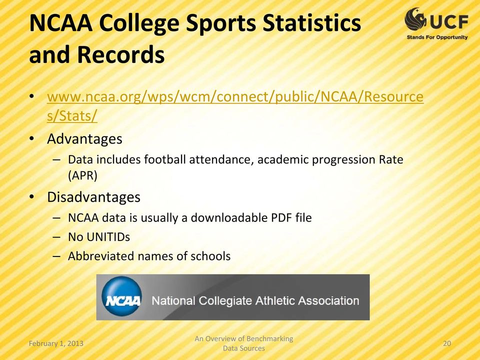 includes football attendance, academic progression Rate (APR)