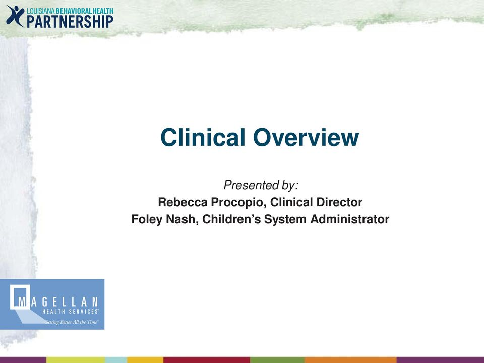 Clinical Director Foley