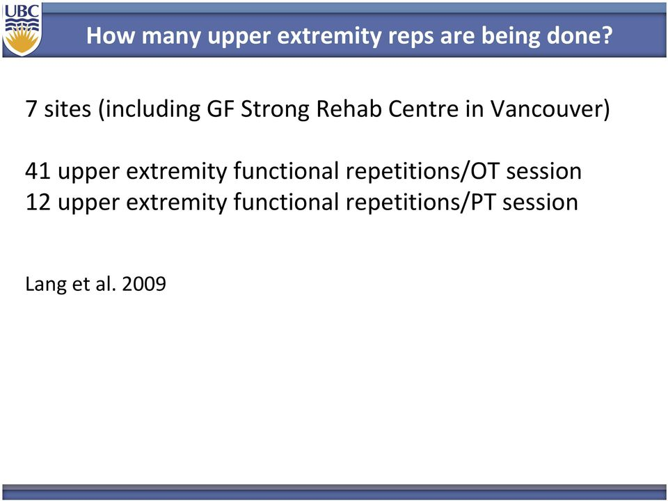 41 upper extremity functional repetitions/ot session 12