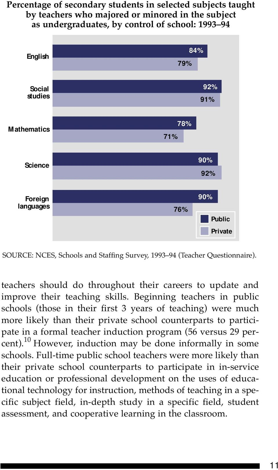 teachers should do throughout their careers to update and improve their teaching skills.