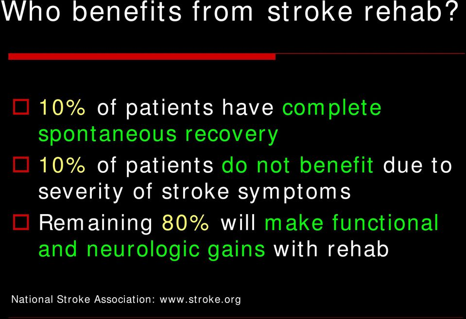 patients do not benefit due to severity of stroke symptoms
