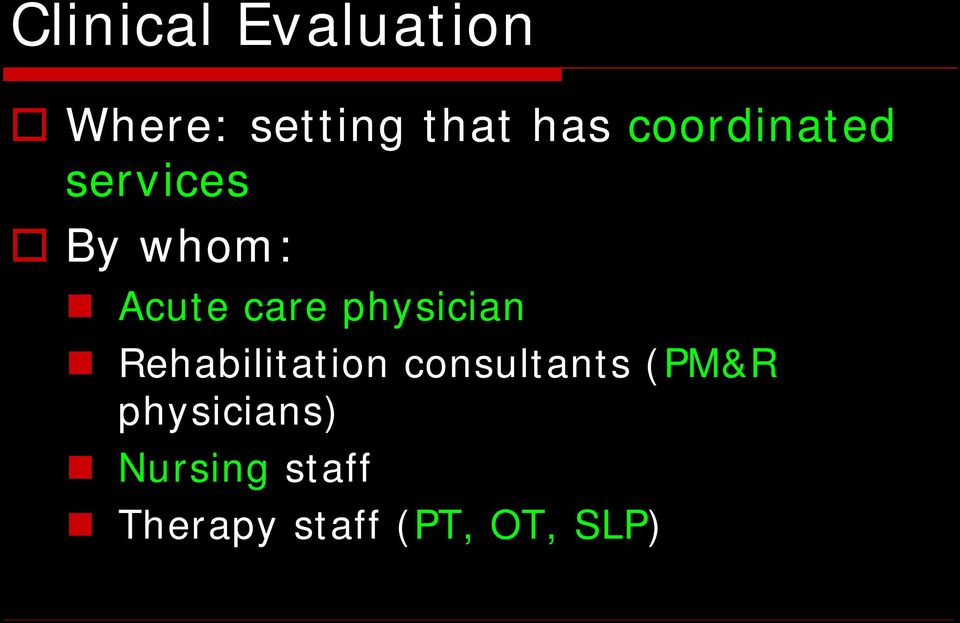physician Rehabilitation consultants (PM&R