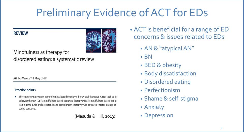 2013) AN & atypical AN BN BED & obesity Body dissatisfaction
