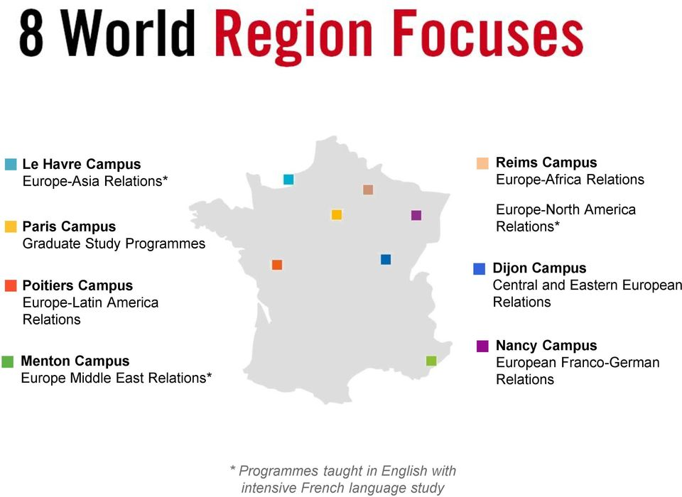 Europe-Africa Relations Europe-North America Relations* Dijon Campus Central and Eastern European