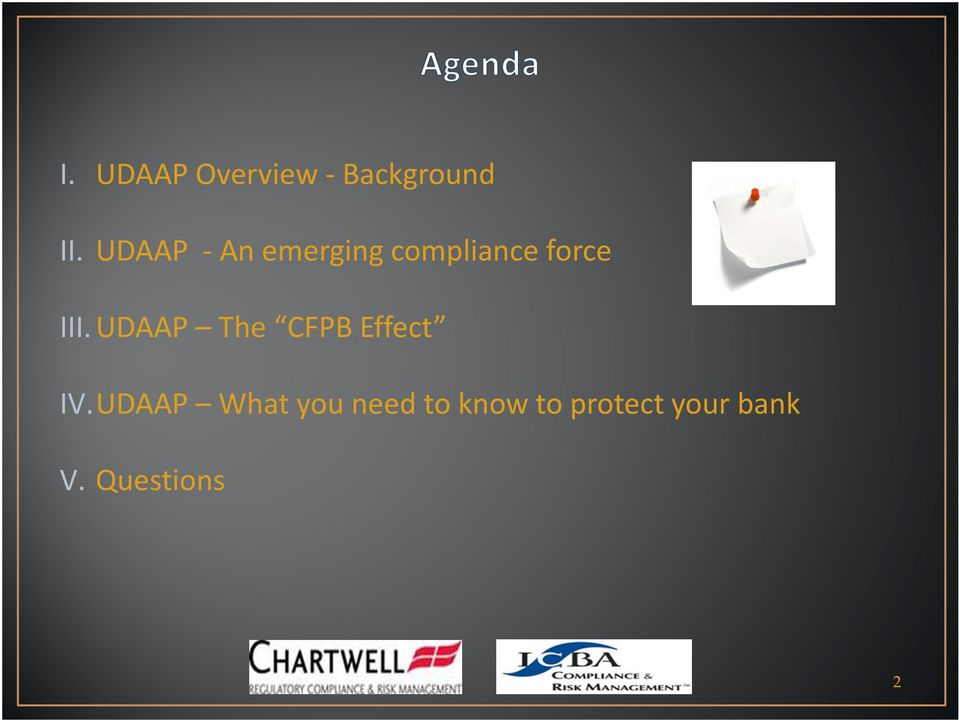 UDAAP The CFPB Effect IV.