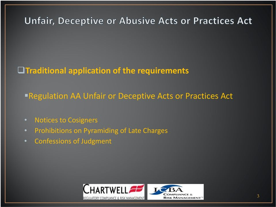 Practices Act Notices to Cosigners Prohibitions