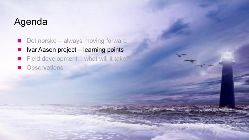 project learning points Field