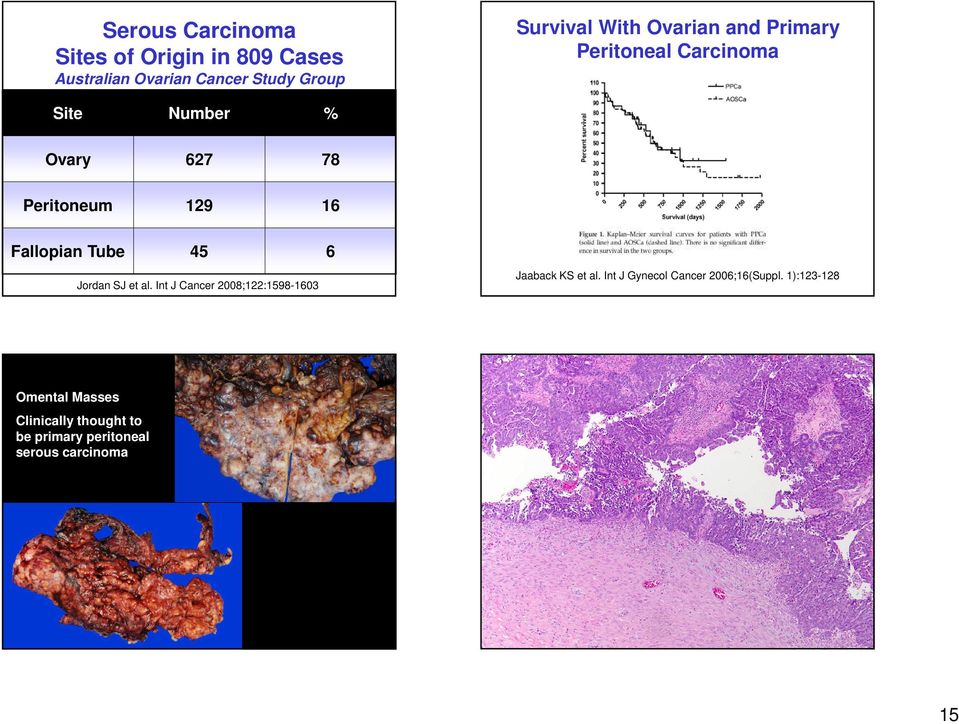 Tube 45 6 Jordan SJ et al. Int J Cancer 2008;122:1598-1603 Jaaback KS et al.