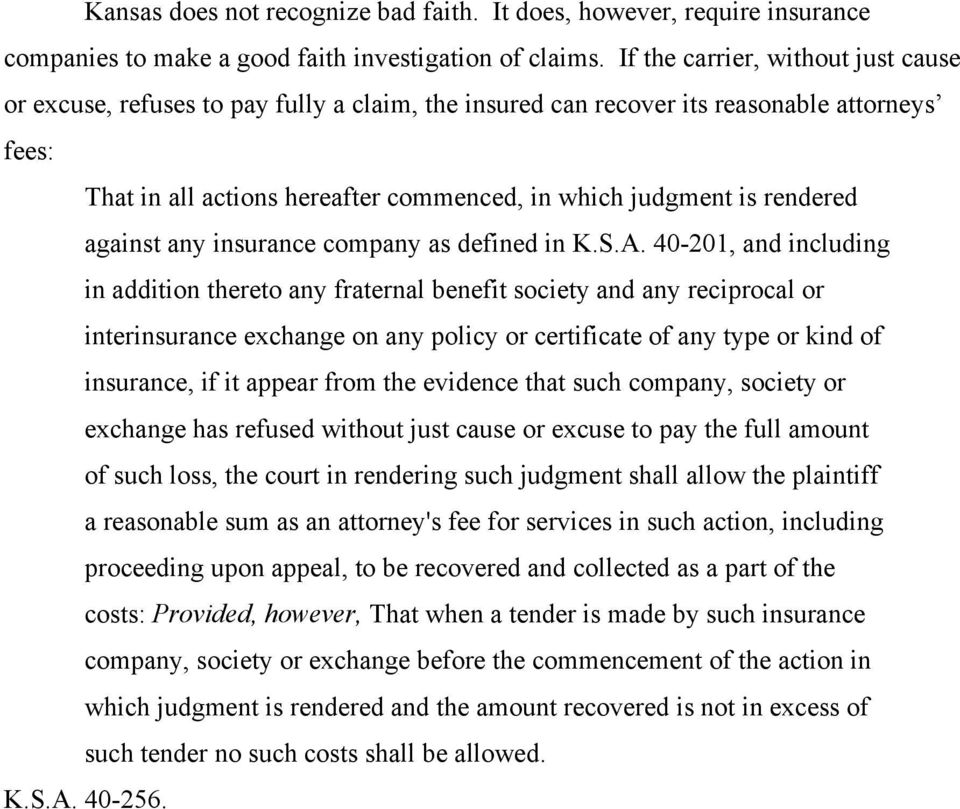 rendered against any insurance company as defined in K.S.A.