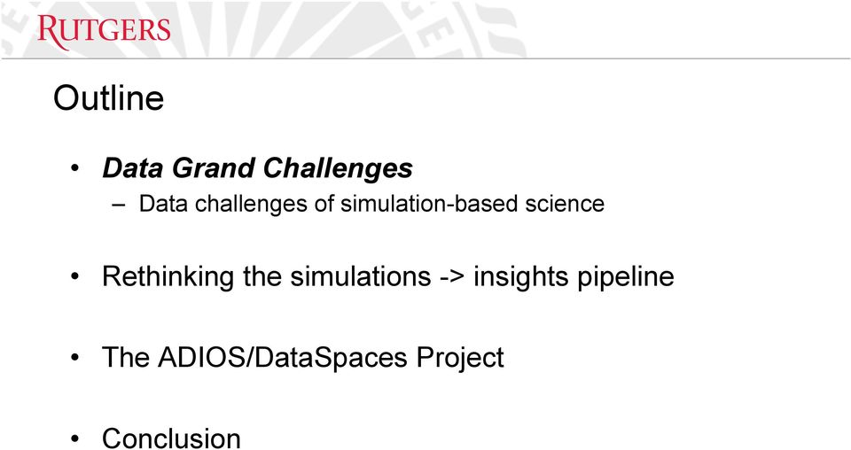 Rethinking the simulations -> insights