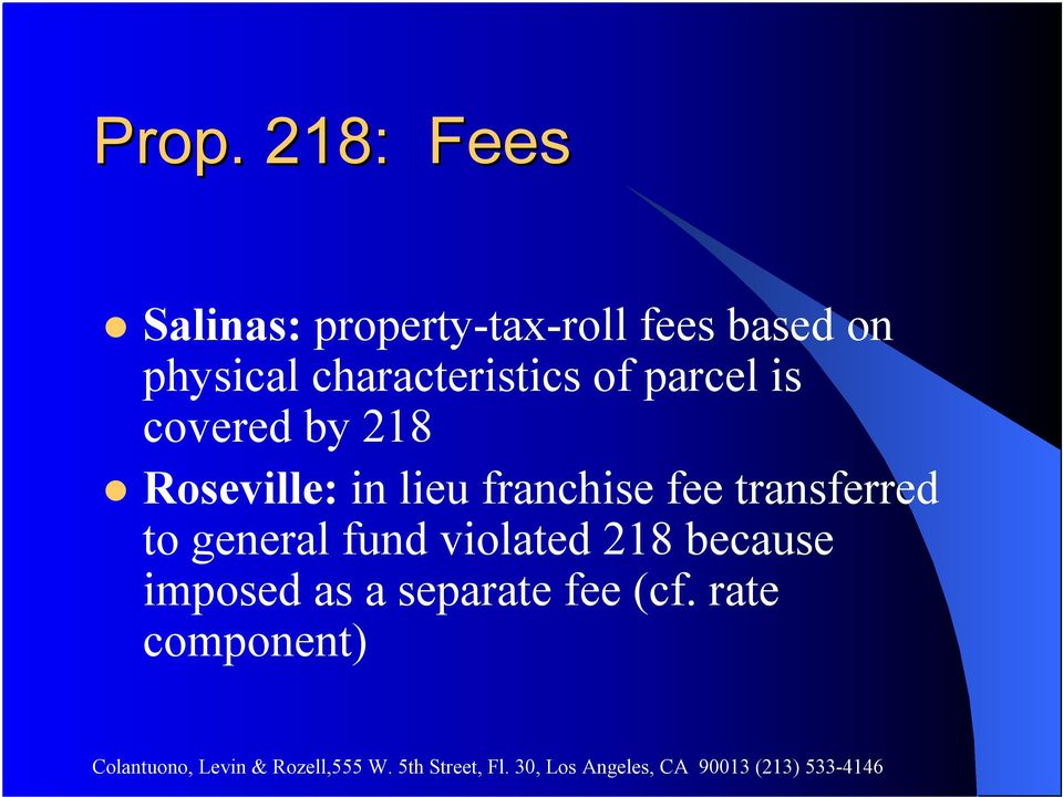 Roseville: in lieu franchise fee transferred to general