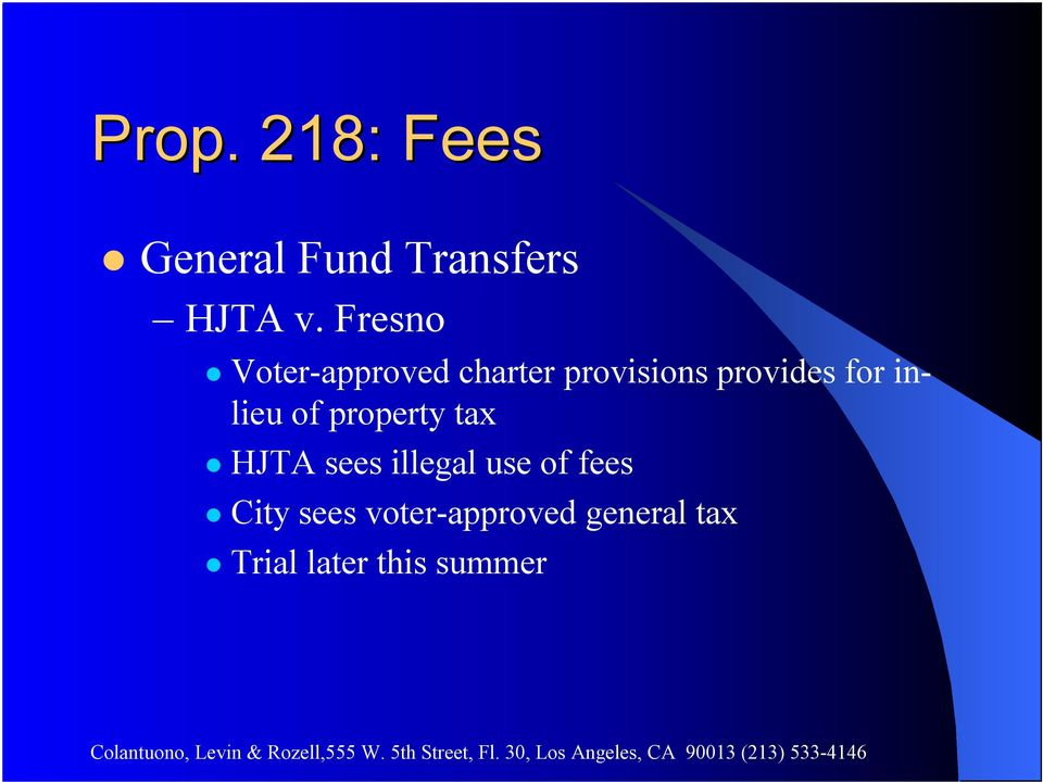 inlieu of property tax HJTA sees illegal use of fees