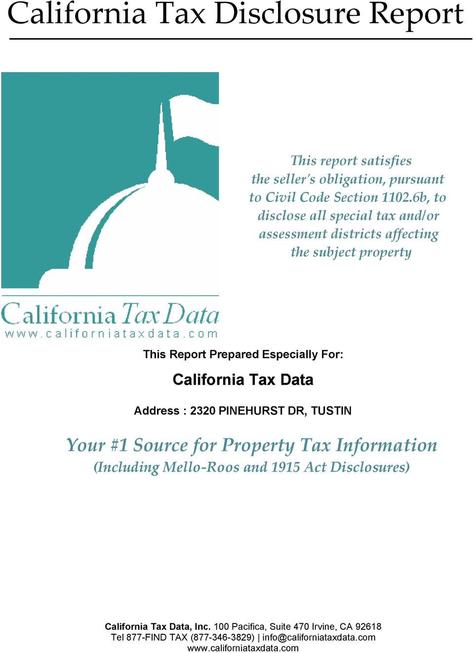 6b, to disclose all special tax and/or assessment districts affecting the subject property