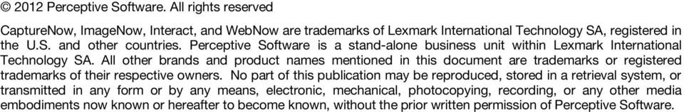 All other brands and product names mentioned in this document are trademarks or registered trademarks of their respective owners.