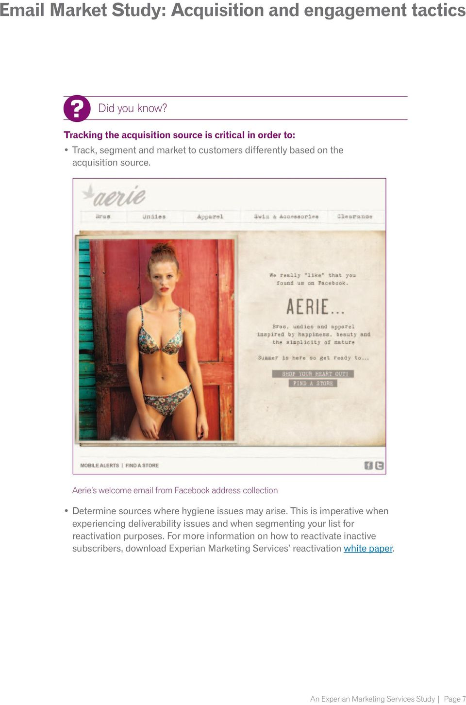 source. Aerie s welcome email from Facebook address collection Determine sources where hygiene issues may arise.