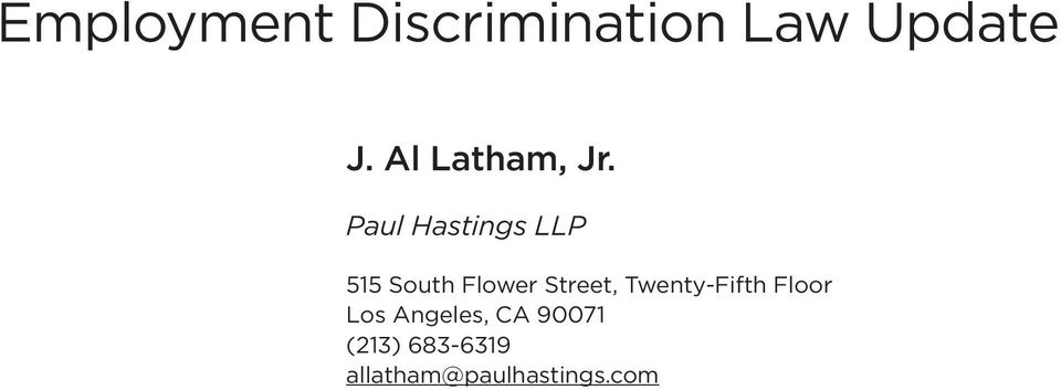 Paul Hastings LLP 515 South Flower Street,