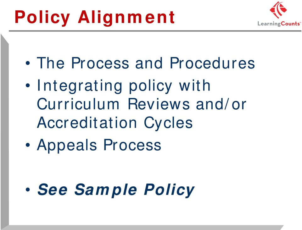 Curriculum Reviews and/or