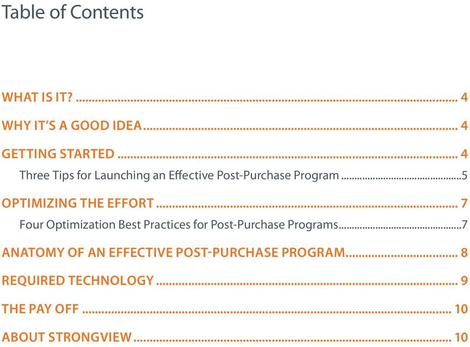 .. 7 Four Optimization Best Practices for Post-Purchase Programs.