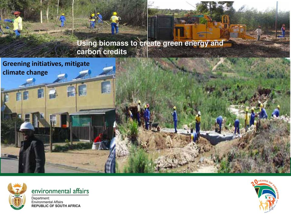 Using biomass to create