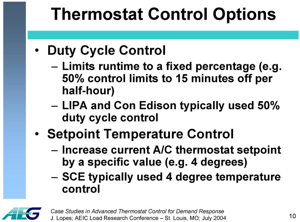 cycle control Setpoint Temperature Control Increase current A/C thermostat setpoint by a specific value