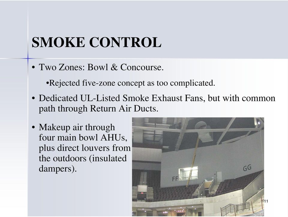 Dedicated UL-Listed Smoke Exhaust Fans, but with common path through