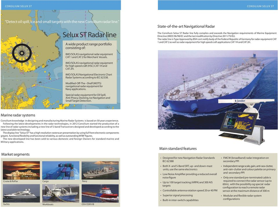 Marine Equipment Directive (MED) 96/98/EC and the last modification by Directive 2011/75/EU.