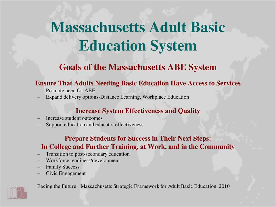 Adult continuing education massachusetts
