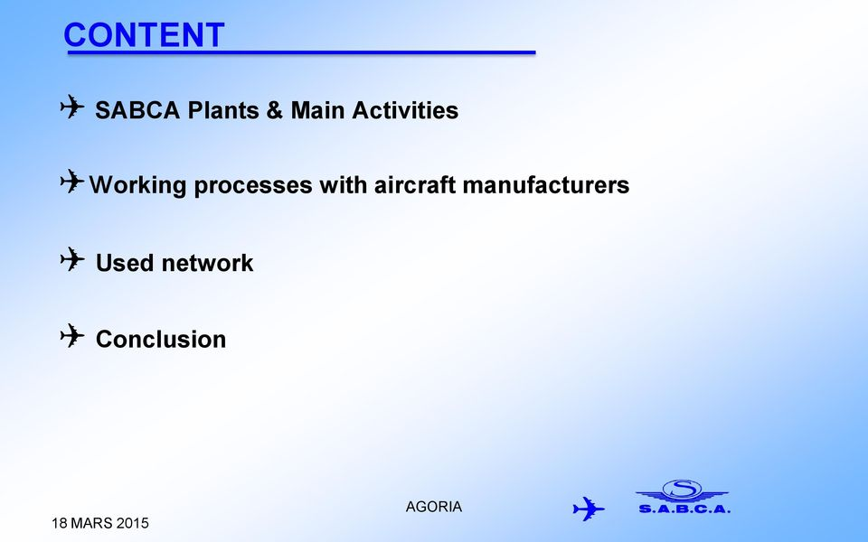 processes with aircraft
