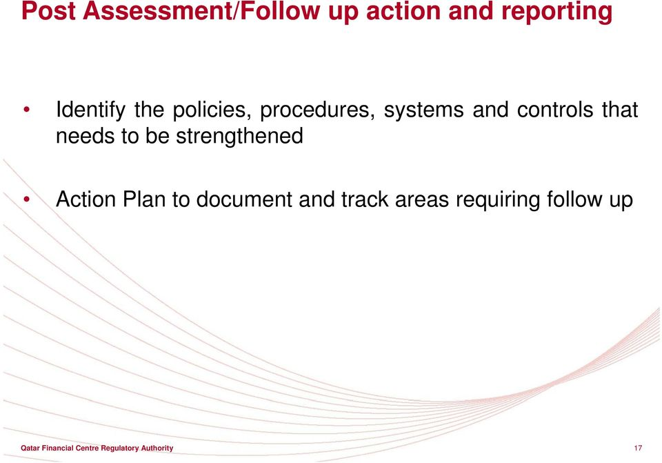 strengthened Action Plan to document and track areas