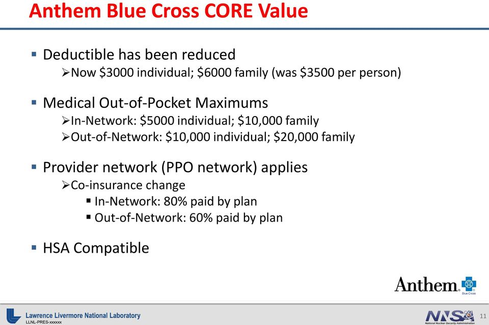 family Out-of-Network: $10,000 individual; $20,000 family Provider network (PPO network)