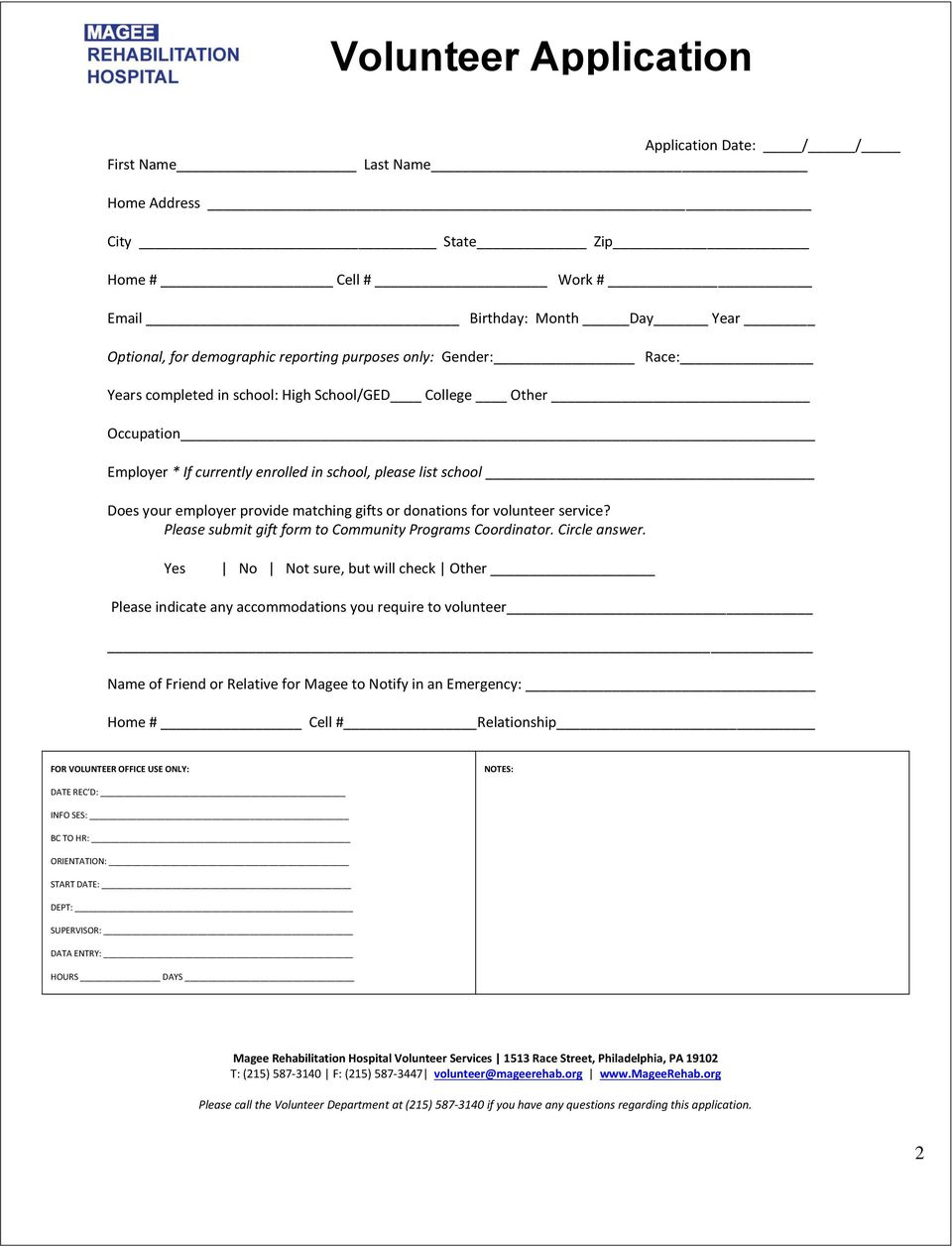 service? Please submit gift form to Community Programs Coordinator. Circle answer.