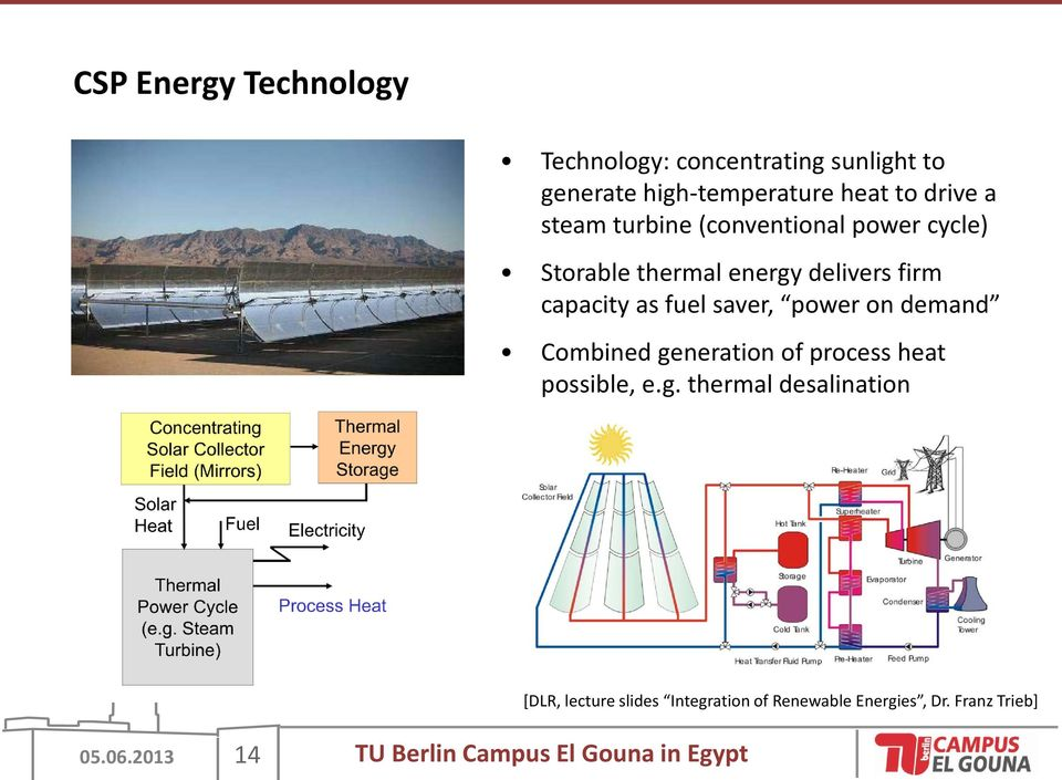 power on demand Combined generation of process heat possible, e.g. thermal desalination 05.06.