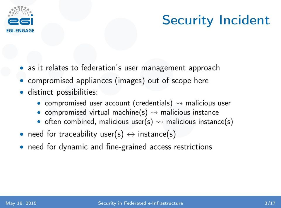machine(s) malicious instance often combined, malicious user(s) malicious instance(s) need for traceability