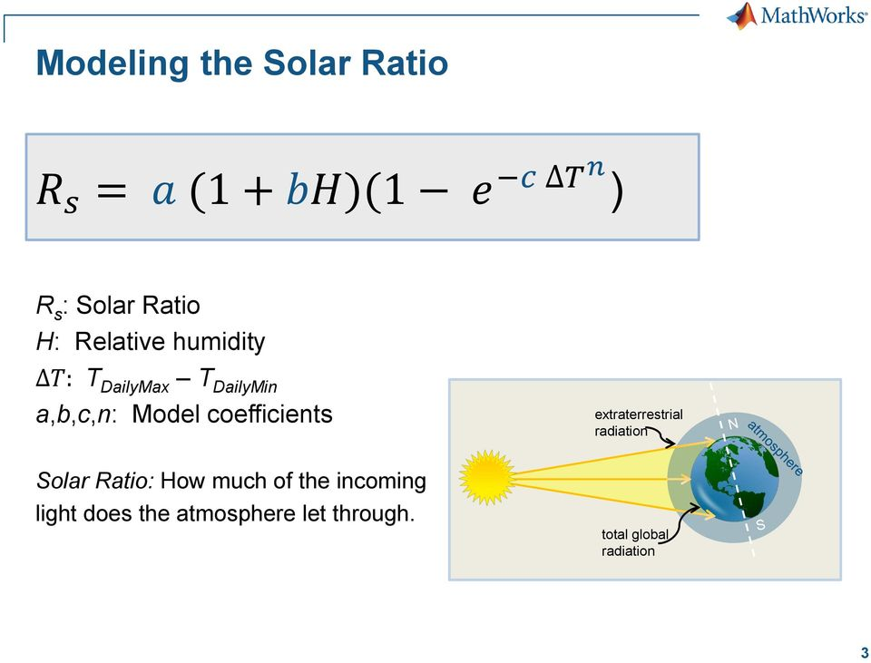 coefficients Solar Ratio: How much of the incoming light does the