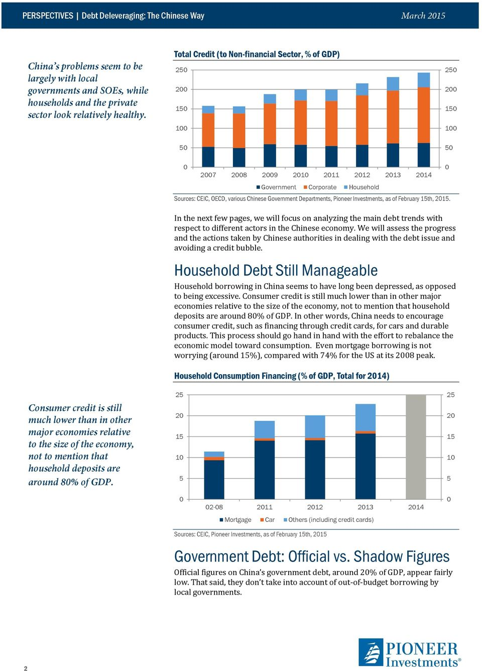 Investments, as of February th, 2. In the next few pages, we will focus on analyzing the main debt trends with respect to different actors in the Chinese economy.