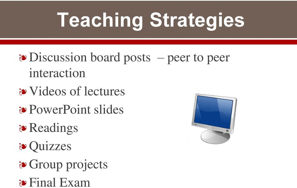 Videos of lectures PowerPoint slides