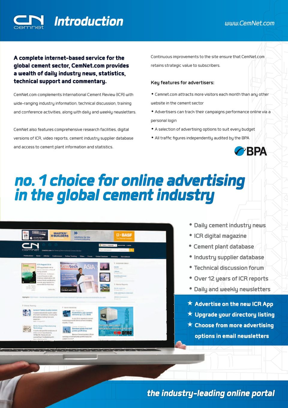 com complements International Cement Review (ICR) with wide-ranging industry information, technical discussion, training and conference activities, along with daily and weekly newsletters.