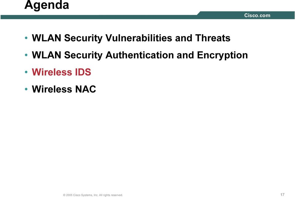 WLAN Security Authenticatio n