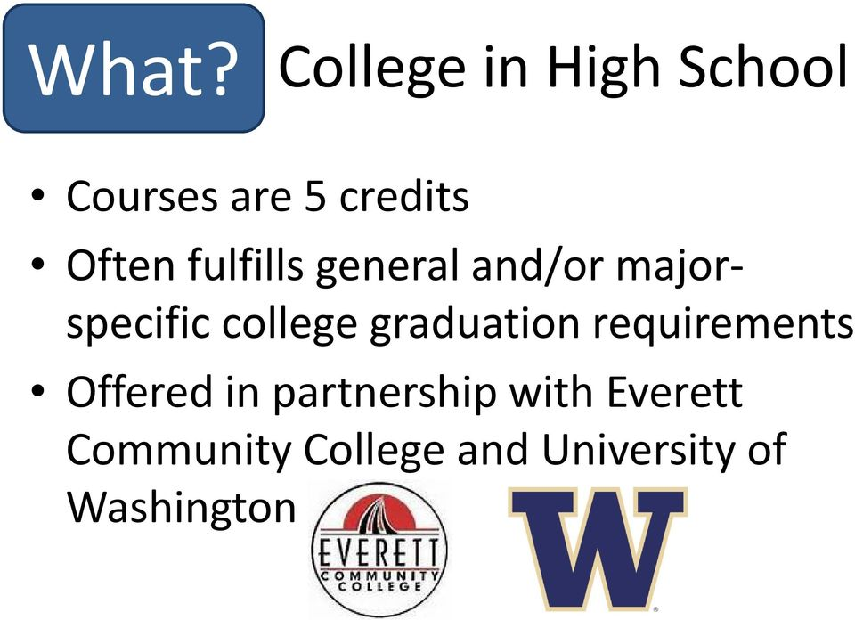 graduation requirements Offered in partnership with
