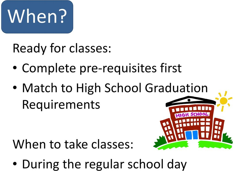 School Graduation Requirements When