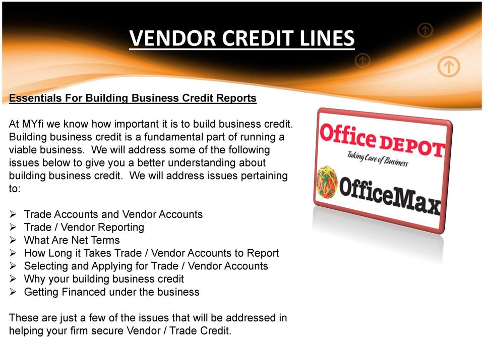 We will address some of the following issues below to give you a better understanding about building business credit.