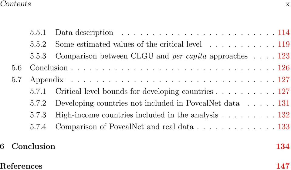 ......... 27 5.7.2 Developing countries not included in PovcalNet data..... 3 5.7.3 High-income countries included in the analysis......... 32 5.