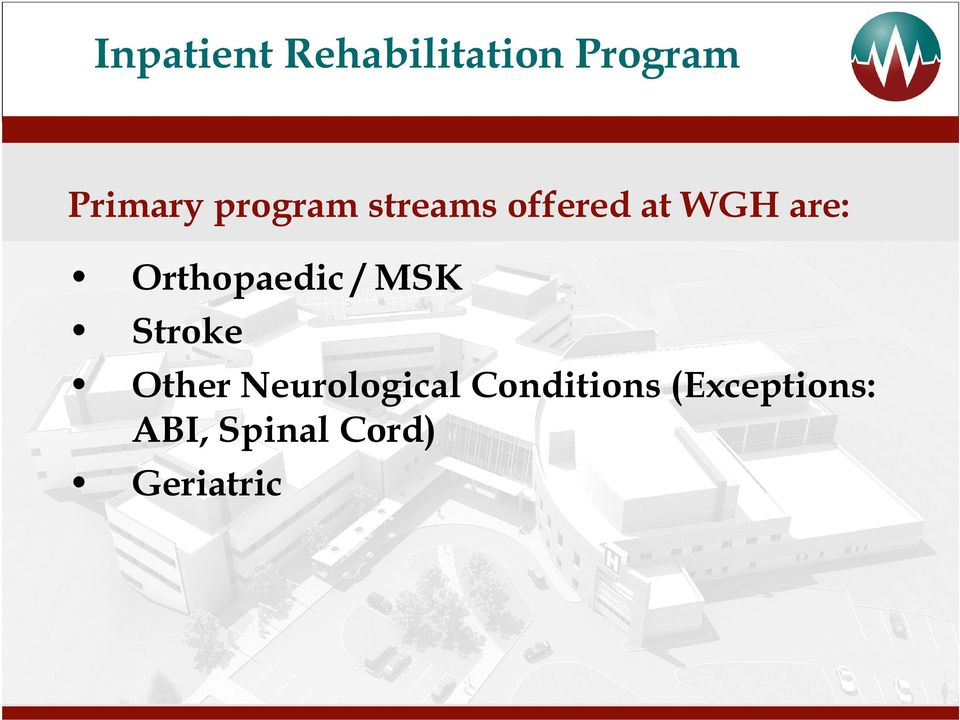 Orthopaedic / MSK Stroke Other