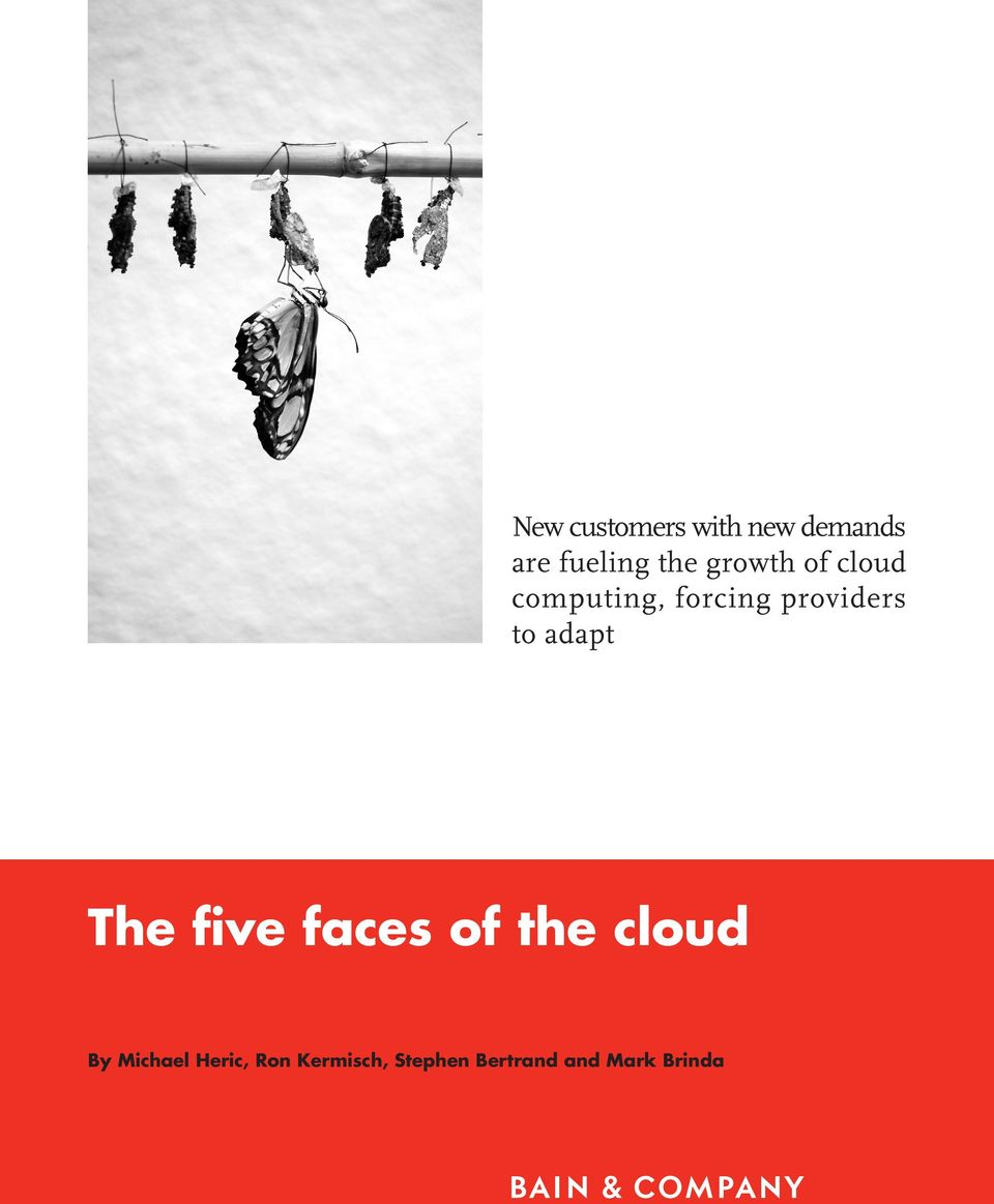 adapt The five faces of the cloud By Michael